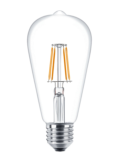 ST64 - Λάμπα Edison LED οικονομίας A', Dimmable,Θερμό,E27/6W
